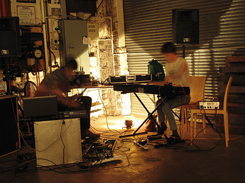Musos performing, Frasers Studio, Spoke + Spool launch