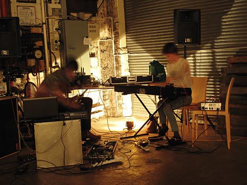 Musos performing, Frasers Studio, Spoke + Spool launch