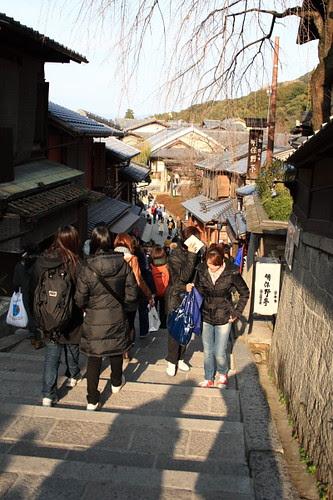 Steep route at Kiyomizu temple, Kyoto