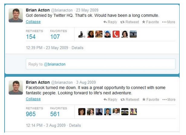 Twitter de Brian Acton