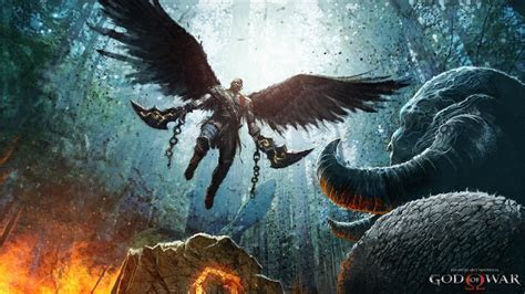 Kratos God of War 4 Art Wings Monste  Wallpaper #2880