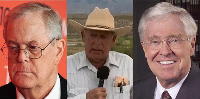 Koch Brothers And Bundy