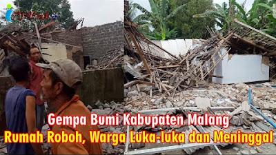 Gempa Bumi Guncang Kabupaten Malang Sebabkan Rumah Roboh, Warga Luka Berat Hingga Ada Yang Meninggal