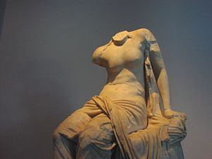 Seated Muse. Greek insular marble, Roman copy ...