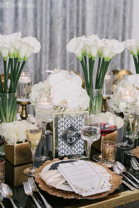Art Deco Wedding Inspiration   ElegantWedding.ca