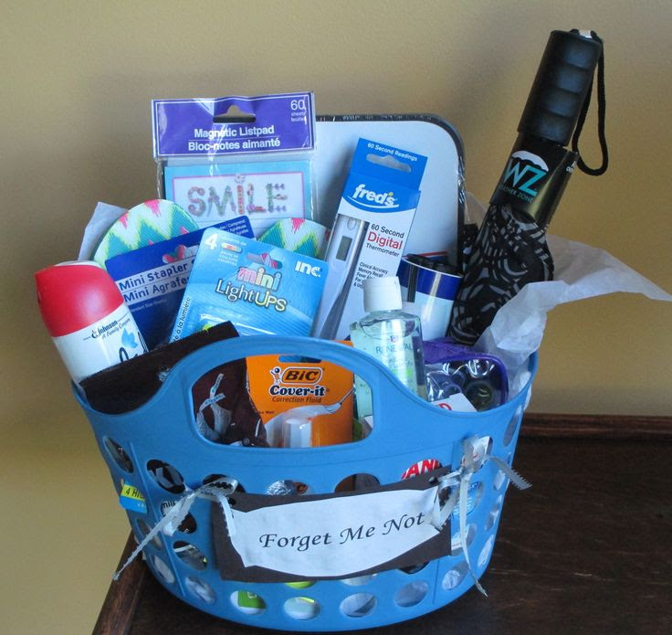 Forget Me Not graduation gift basket for the grad who is heading off ...