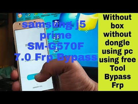 Samsung J5 Prime G570f Android 7.1.1 Frp Bypass Without Box