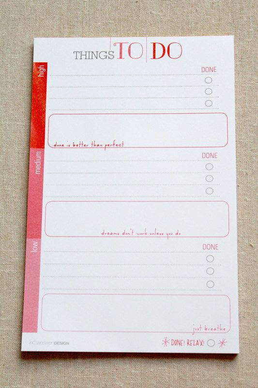 To Do List Notepad on Etsy | Blog how to | Pinterest | Things To ...