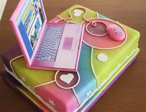 Laptop Cakes ? Decoration ideas   Little Birthday Cakes