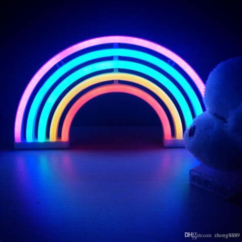 Fashion Colorful Rainbow Led Neon Sign Light Holiday Xmas