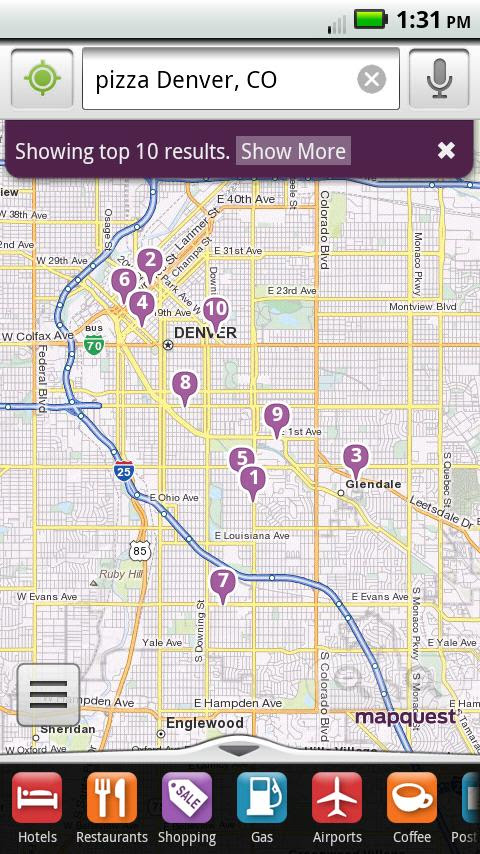 Mapquest Android App Released Free Voice Guided Turn By