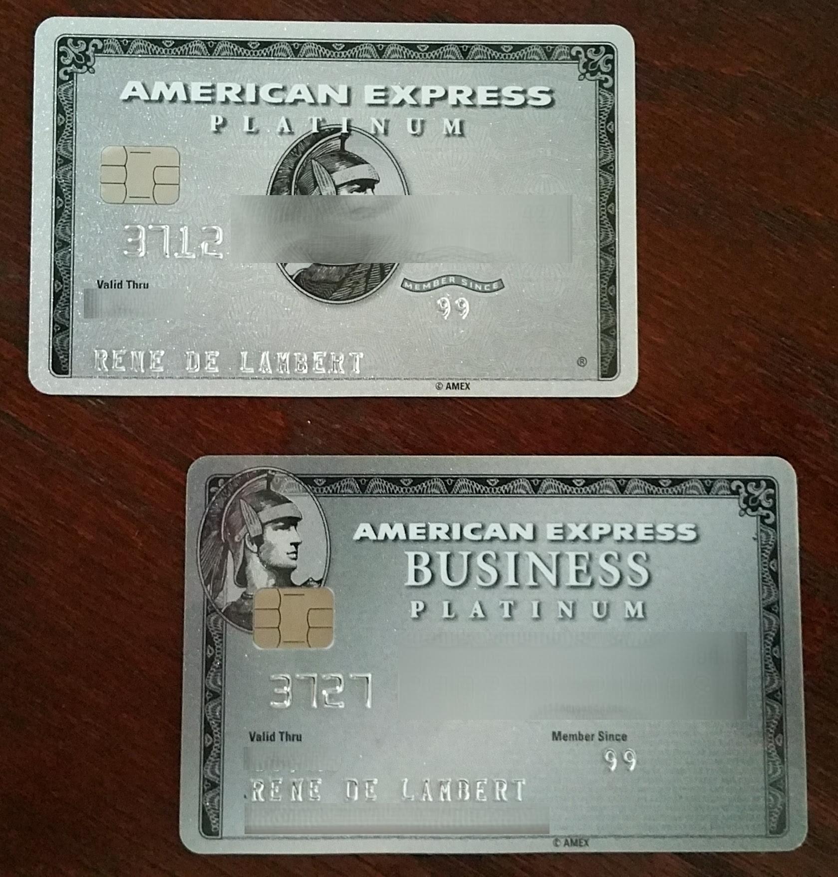 my two non-delta amex platinum cards - Renés PointsRenés ...