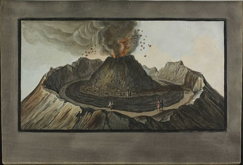 Plate 9, crater of Mt. Vesuvius