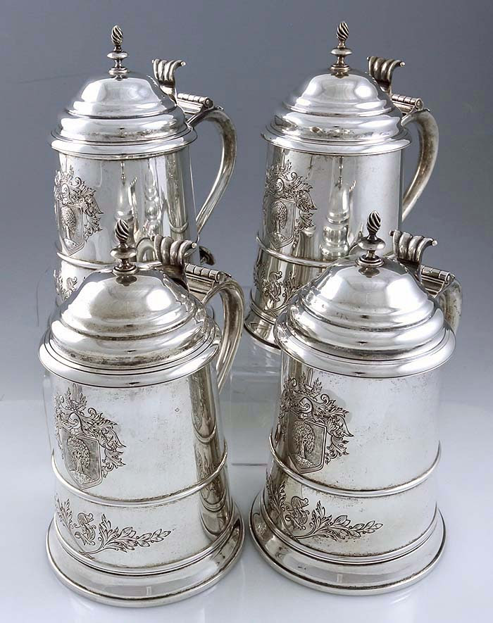 Reed And Barton Tankards Copy Of Paul Revere Sterling Silver