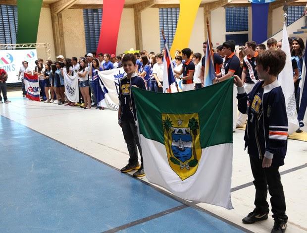 Ginásio da UFRN sediou abertura dos Jogos Escolares do Rio Grande do Norte 2013 (Foto: Márlio Forte/Divulgação)