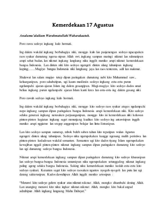 Pidato Singkat Tentang Hari Kemerdekaan   TulisanViral.Info