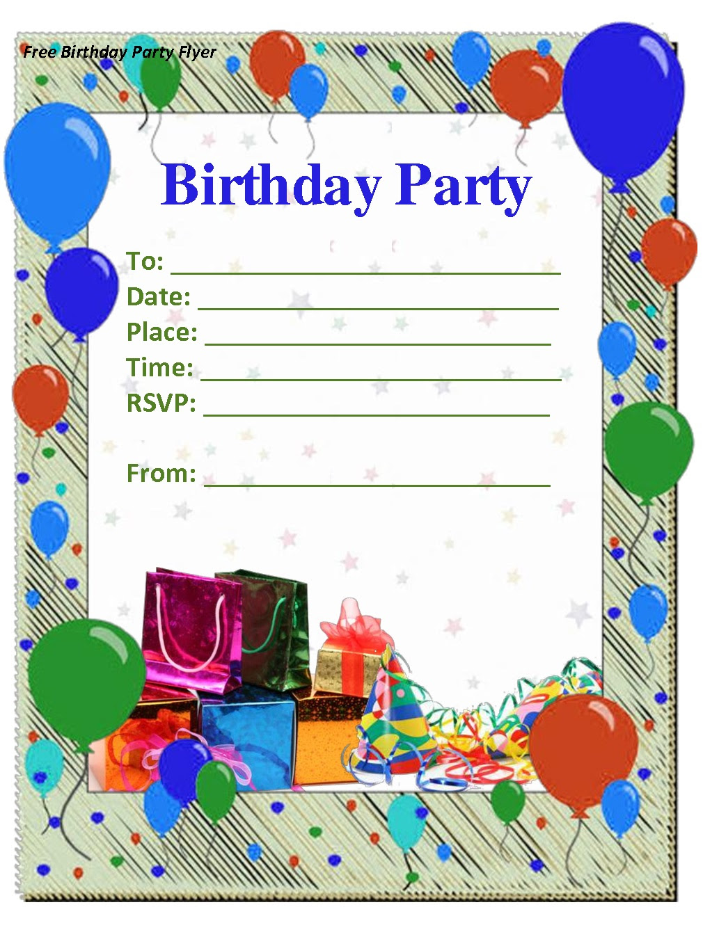 Latter: 4 Inspirational Party Invitation Template
