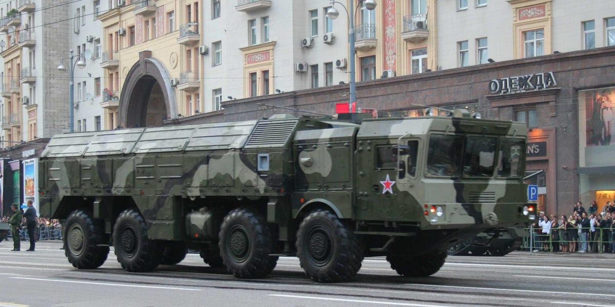 9K720 Iskander russa mísseis de cruzeiro lançados de terra