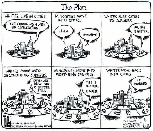 Tom Toles on Gentrification, 1998