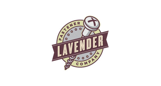 lavender fastener company l11 30 Creative Ribbon Logo Designs