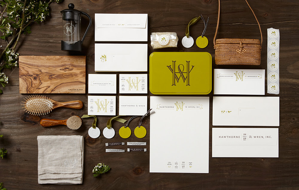 lovely stationery hawthorne and wren 11 60 Professional Examples of Stationery Design