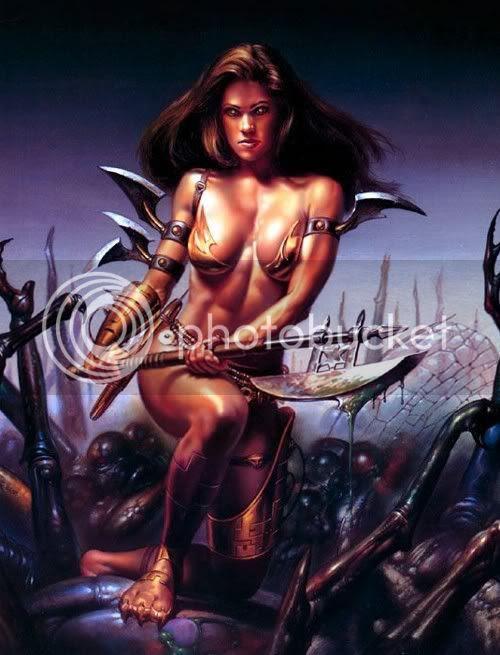 Warrior Women Fantasy Myspace Graphics Art Scraps