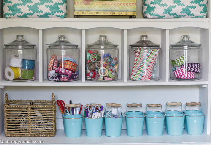 Colourful Cheery Craft Room Tour at thehappyhousie.com-14