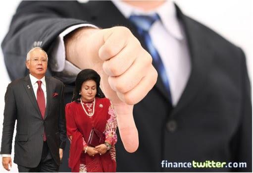 Najib Razak and Rosmah Mansor - Thumb Down