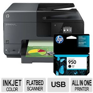 Hp Officejet Pro 8610 Wireless All In One Printer W Extra Hp 950