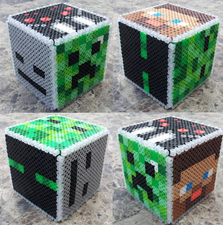 Bought Perler beads and Minecraft for the kids, but they aren't the only ones to play... - Imgur