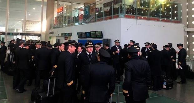 Aeroméxico retrasa 42 vuelos del AICM por huelga de pilotos