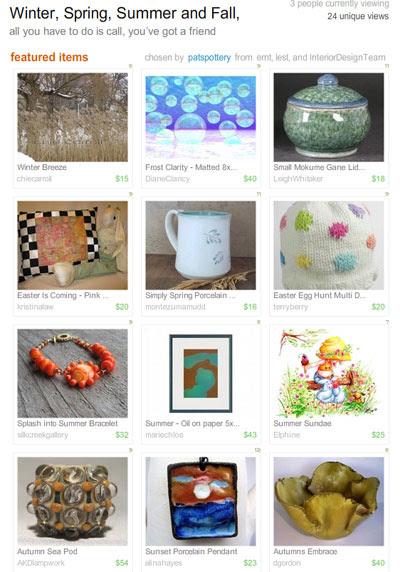 Winter, Spring, Summer and Fall Treasury