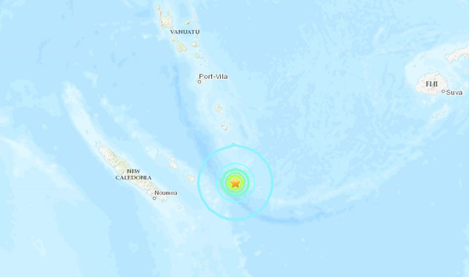 M6.3 σεισμός από Νέα Καληδονία στις 19 Μαΐου 2019, M6.3 σεισμό από Νέα Καληδονία στις 19 Μαΐου 2019 χάρτη