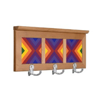 Rainbow Chevrons Coat Rack