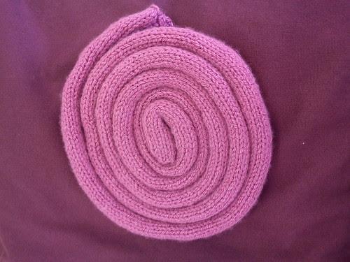 Finished scarf before blocking