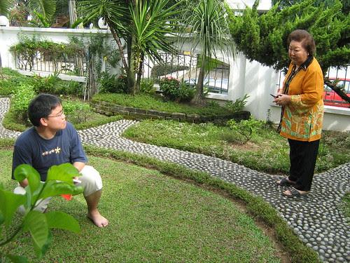 Me speaking to Lai Ming