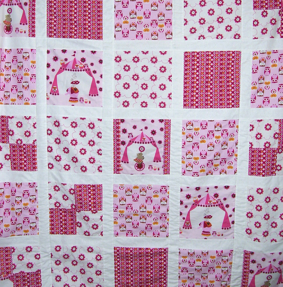 Closeup of baby quilt