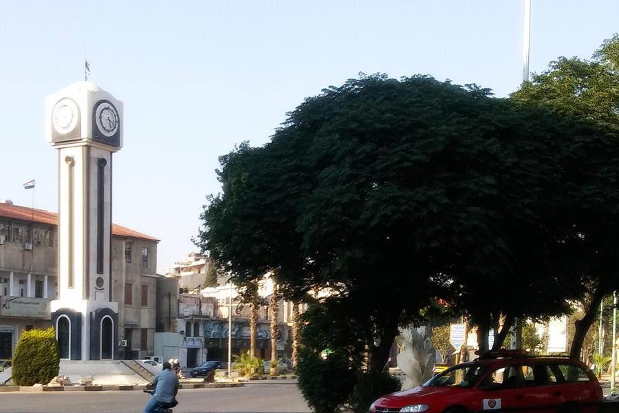 Plaza del Reloj Nuevo, en la Avenida Chukri Al Quwatli de Homs (Foto: Pablo Sapag M.)