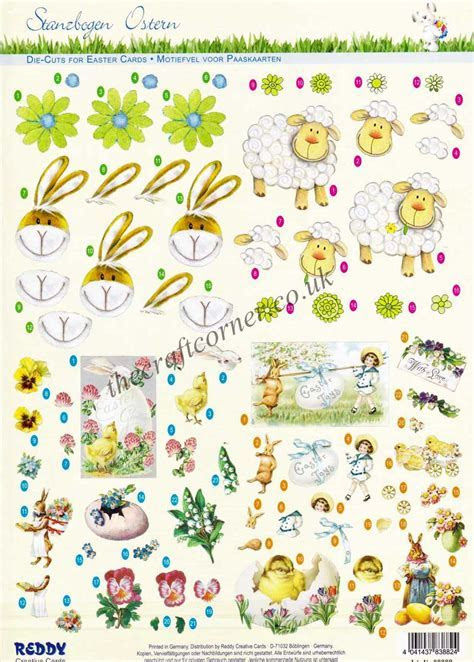 Easter Rabbits Sheep & Collage Designs Die Cut 3d
