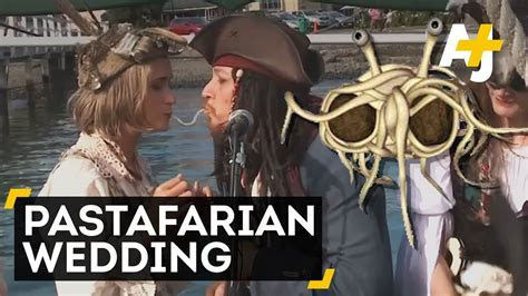 First Official Flying Spaghetti Monster Wedding   YouTube