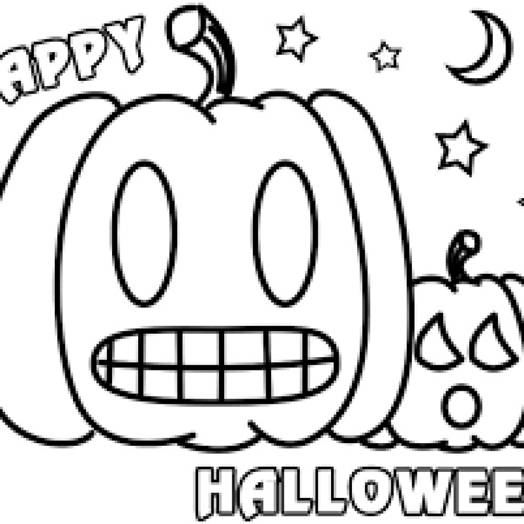 Free Printable Preschool Halloween Coloring Pages ...