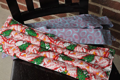 Obi style warming rice bag wrap