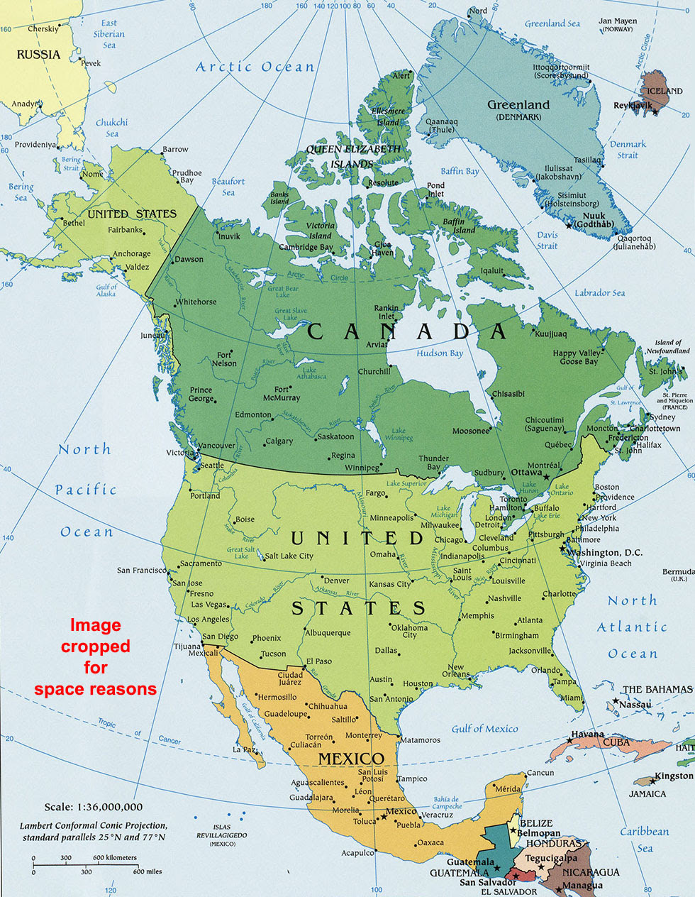 North America Political Map Political Map Of North