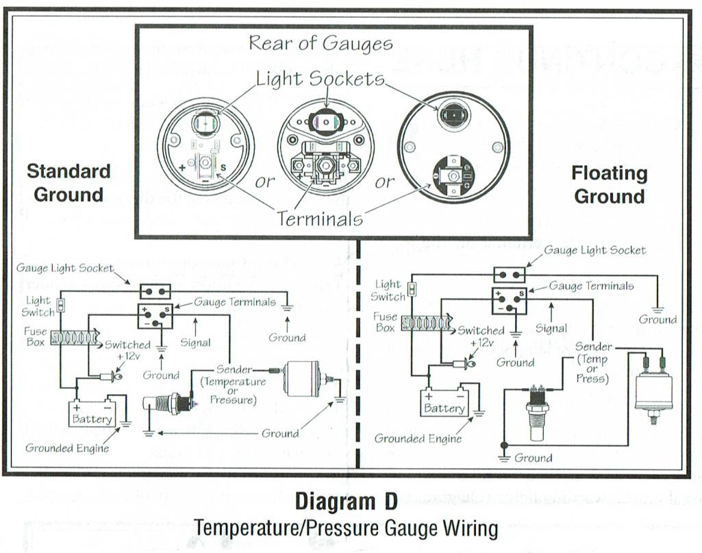 Vdo Oil Pressure Gauge Wiring Diagram Blue