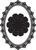 Wykrojnik Craftable ramka owalna + kwiat
