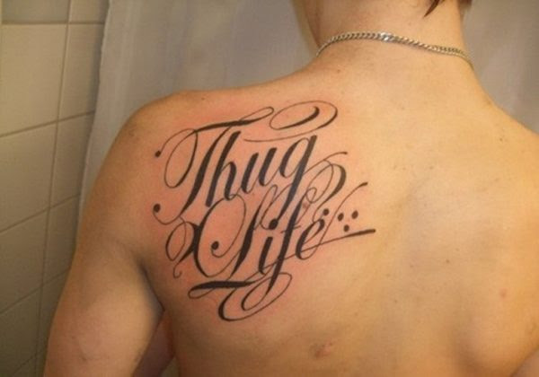 59 Gorgeous Lettering Shoulder Tattoos
