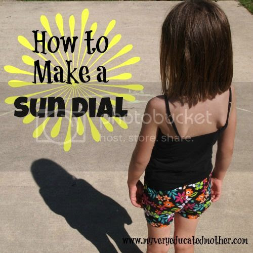 How to Make A Sun Dial #summerfunwithkids