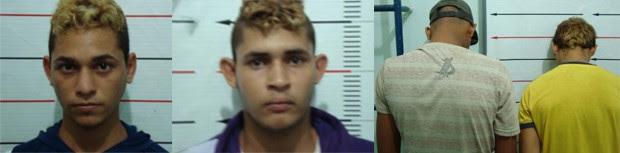 Gustavo, Richardson e dois menores são suspeitos de matar um morador de rua (Foto: Divulgação/SSP-TO)