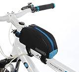 ROSWHEEL フレームバッグ 自転車 サイクリング 全3色 (ブルー/ブラック)