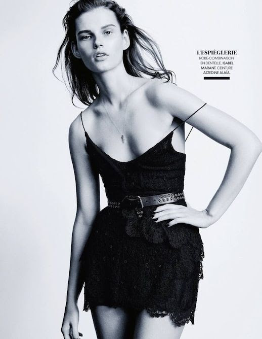 Le Fashion Blog Editorial Lace And Embroidered Goodness Madame Figaro France Belle D'Ajours March 2014 Belted Sleeveless Isabel Marant Black Lace Mini Short Dress 8 photo Le-Fashion-Blog-Editorial-Lace-And-Embroidered-Goodness-Madame-Figaro-France-Belle-DAjours-March-2014-8.jpg